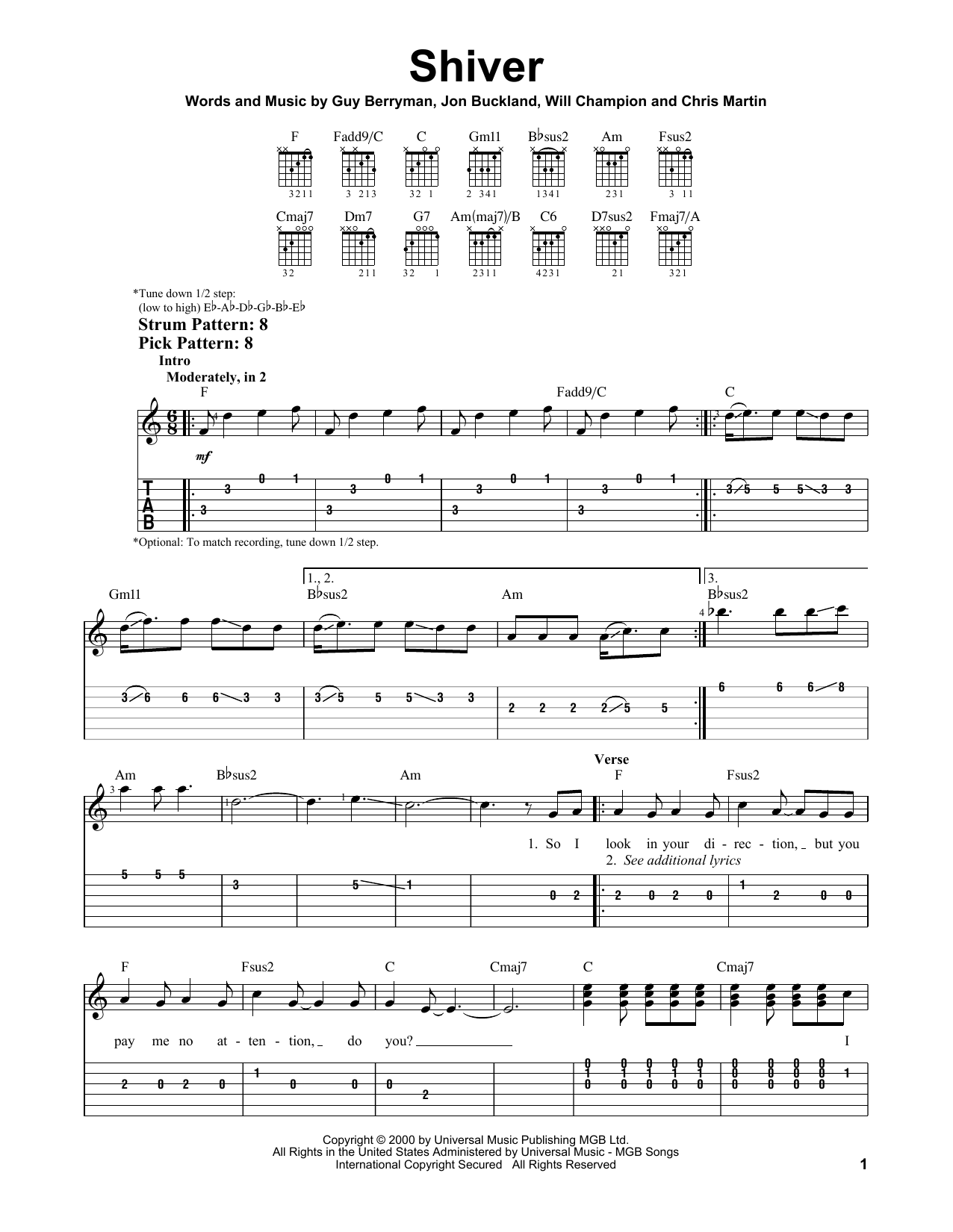 Sheet Music Digital Files To Print Licensed Coldplay Digital Sheet