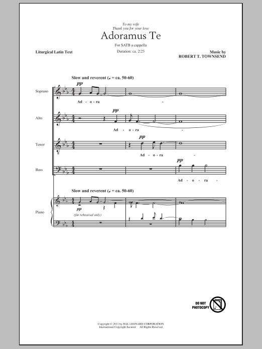 Partition chorale Adoramus Te de Robert T. Townsend - SATB