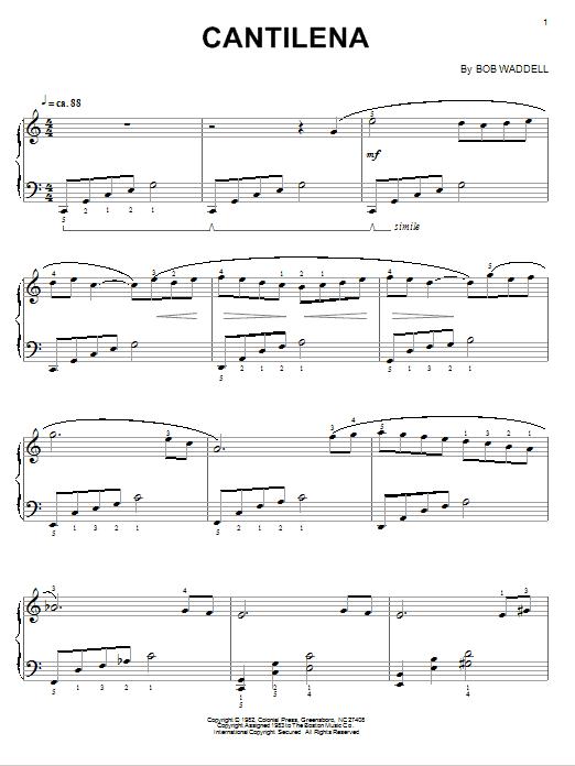 Partition piano Cantilena de Bob Waddell - Piano Solo
