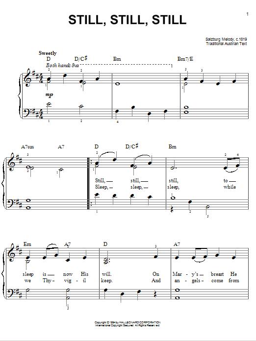Partition piano Still, Still, Still de Traditional - Piano Facile