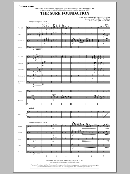 The Sure Foundation (complete set of parts) sheet music for orchestra/band (Orchestra) by Joseph M. Martin