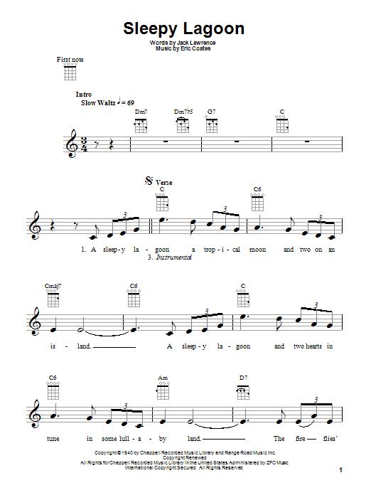 Tablature guitare Sleepy Lagoon de Harry James - Ukulele