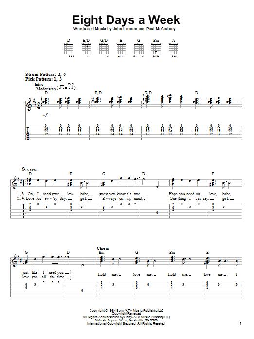 Beatle guitar chords