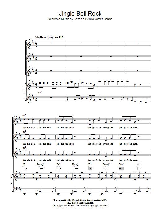 Jingle-Bell Rock sheet music for choir and piano (SSA) by Joe Beal
