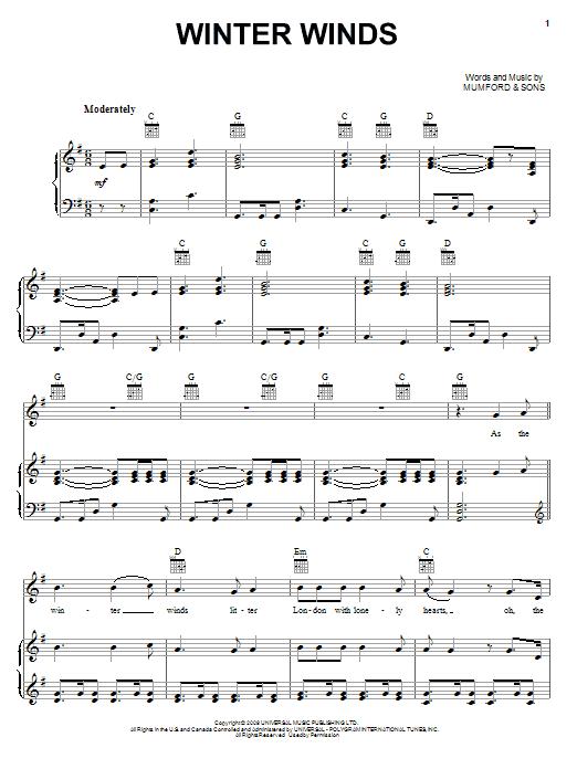 Winter Winds : Sheet Music Direct