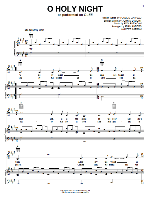 O Holy Night Chords