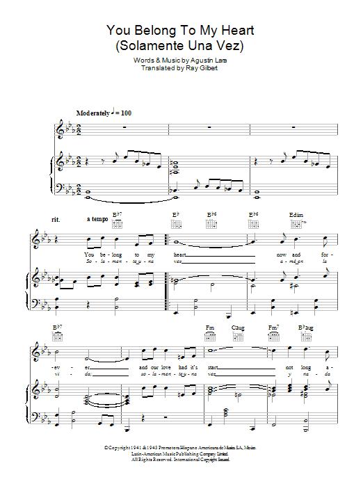 Bing Crosby - You Belong To My Heart (Solamente Una Vez)