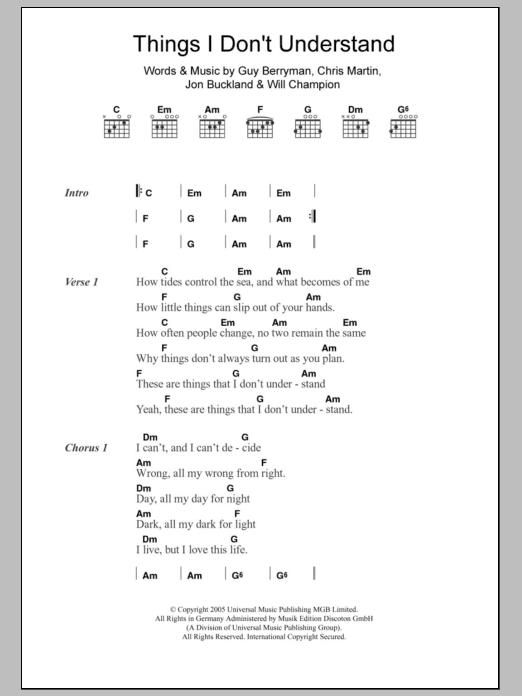 Sheet Music Digital Files To Print - Licensed Guy Berryman Digital ...