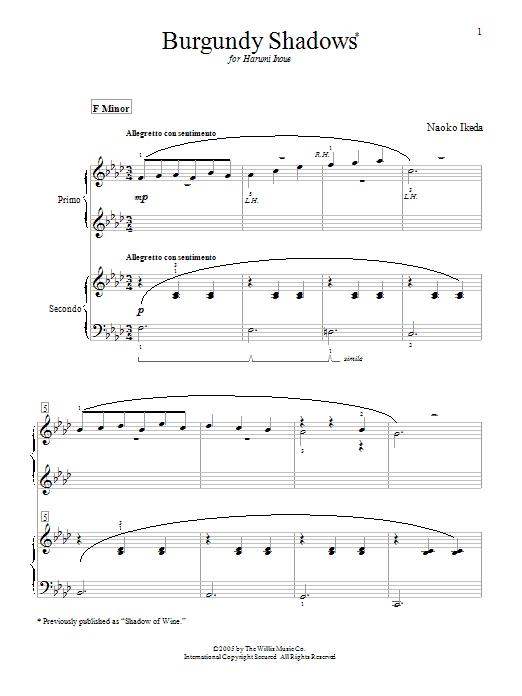 Duets in Color - Book 2 - 12 Original Duets in Minor Keys by Naoko Ikeda