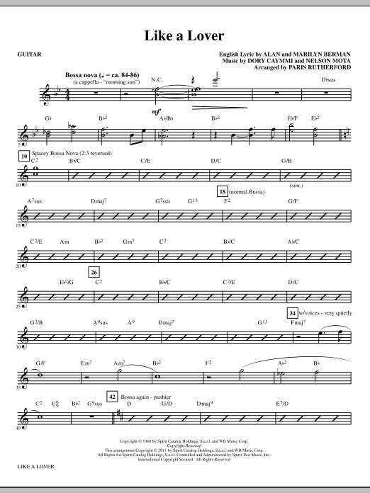 Like A Lover (complete set of parts) sheet music for orchestra/band (Rhythm) by Paris Rutherford