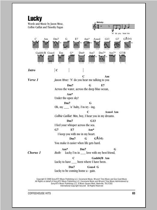 Ukulele ukulele tabs jason mraz : Sheet Music Digital Files To Print - Licensed Jason Mraz Digital ...