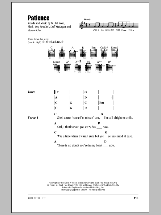 Sheet Music Digital Files To Print Licensed Guns N Roses Digital