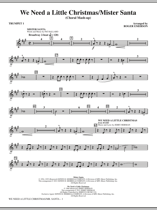 we need a little christmas mister santa bb trumpet 1