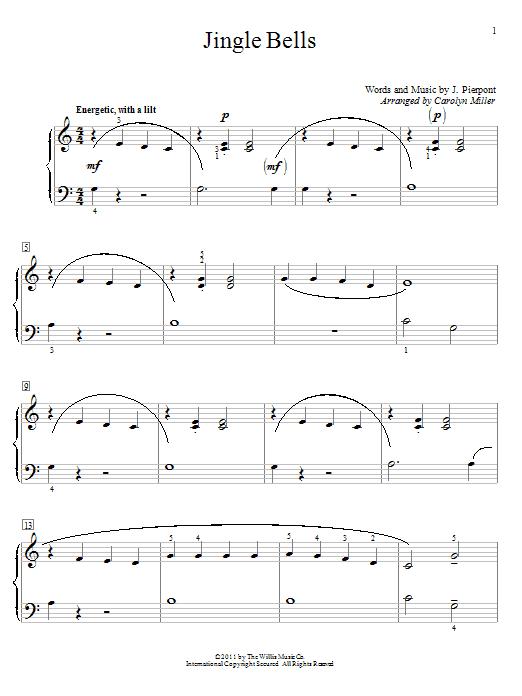 Partition piano Jingle Bells de J. Pierpont - Piano Solo
