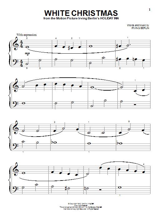 Partition piano White Christmas de Irving Berlin - Piano Facile