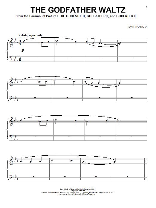 Sheet Music Digital Files To Print - Licensed Nino Rota Digital ...