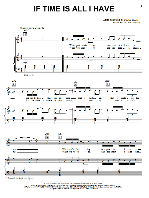 If Time Is All I Have sheet music for voice, piano or guitar by Francis