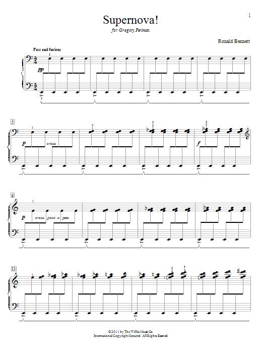 Partition piano Supernova! de Ronald Bennett - Piano Solo