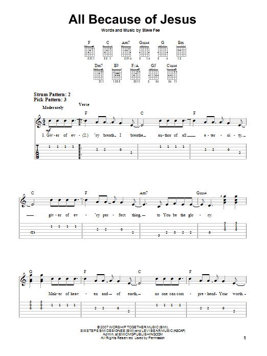 Casting Crowns - All Because Of Jesus Lyrics | MetroLyrics