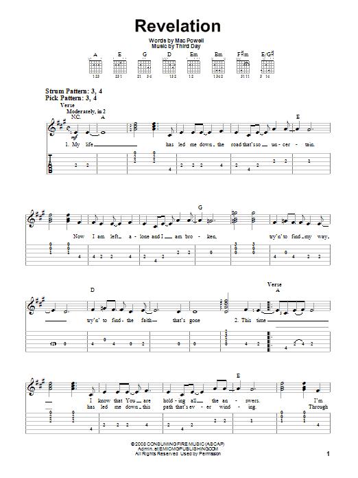 Revelation Song Guitar Tab - Gateway Worship | ULTIMATE ...