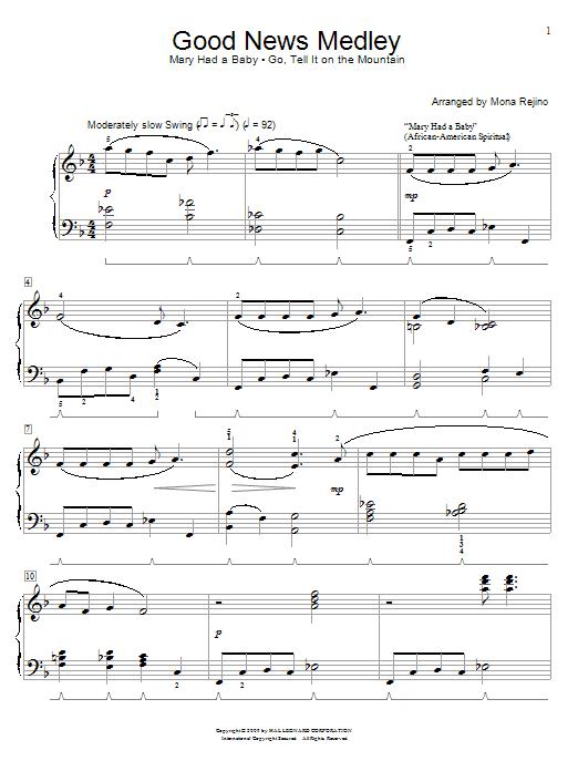Partition piano Good News Medley de Mona Rejino - Piano Solo