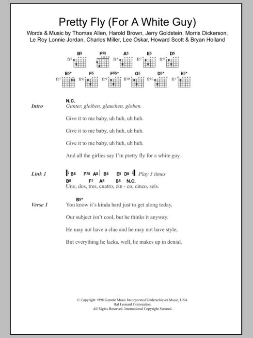 Sheet Music Digital Files To Print - Licensed The Offspring Digital ...