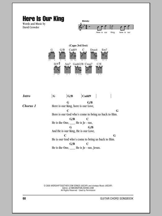 Sheet Music Digital Files To Print - Licensed David Crowder Band ...