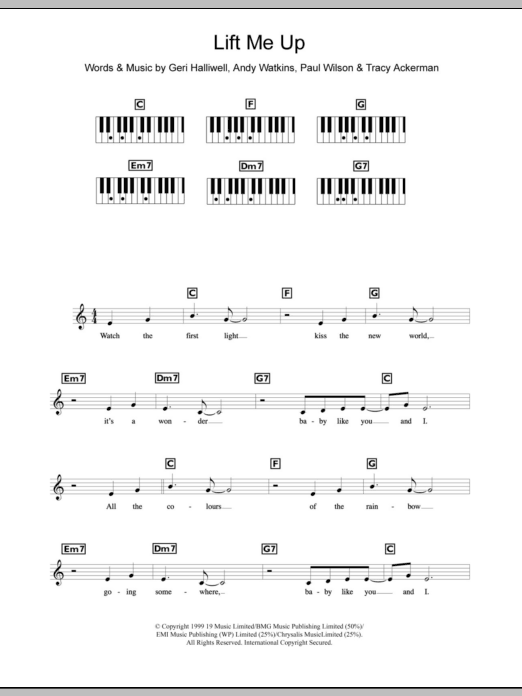 Lift Me Up sheet music for piano solo (chords, lyrics, melody) by Tracy Ackerman