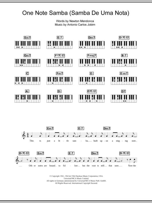Antonio Carlos Jobim One Note Samba Samba De Uma Nota So At