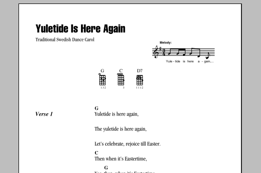 Tablature guitare Yuletide Is Here Again de Traditional - Ukulele (strumming patterns)