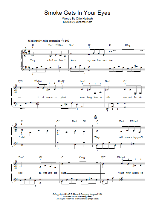 Sheet Music Digital Files To Print - Licensed Jerome Kern Digital ...