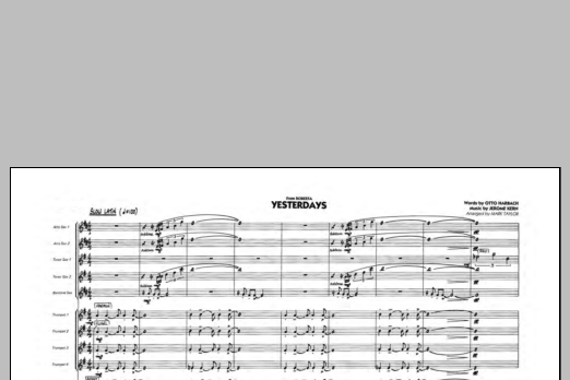 Yesterdays (COMPLETE) sheet music for jazz band by Mark Taylor