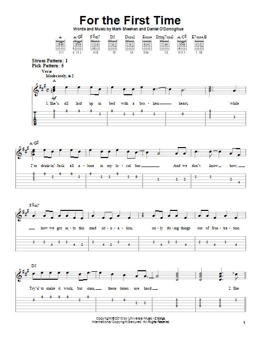 Tablature guitare For The First Time de The Script - Tablature guitare facile