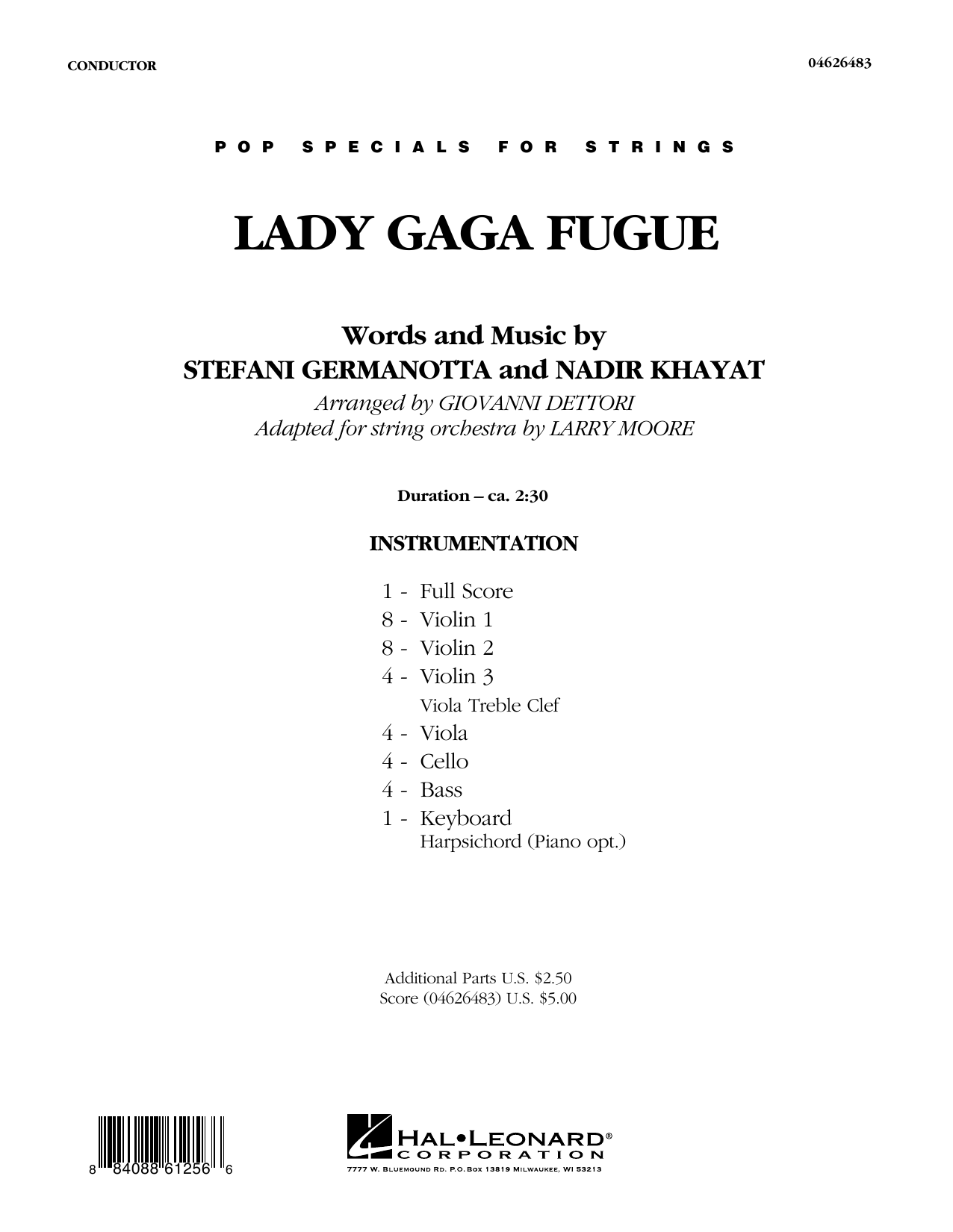 Lady Gaga Fugue (based on
