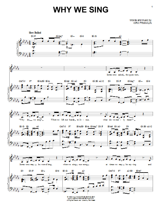 Sheet Music Digital Files To Print Licensed Kirk Franklin Digital