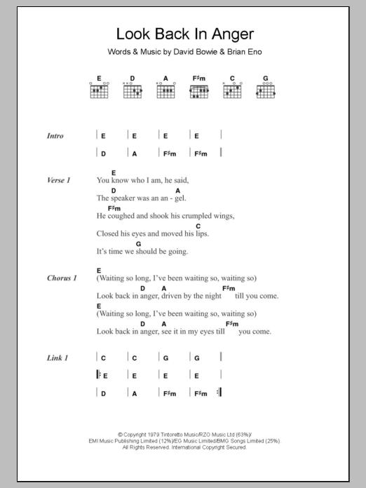 Sheet Music Digital Files To Print - Licensed David Bowie Digital ...