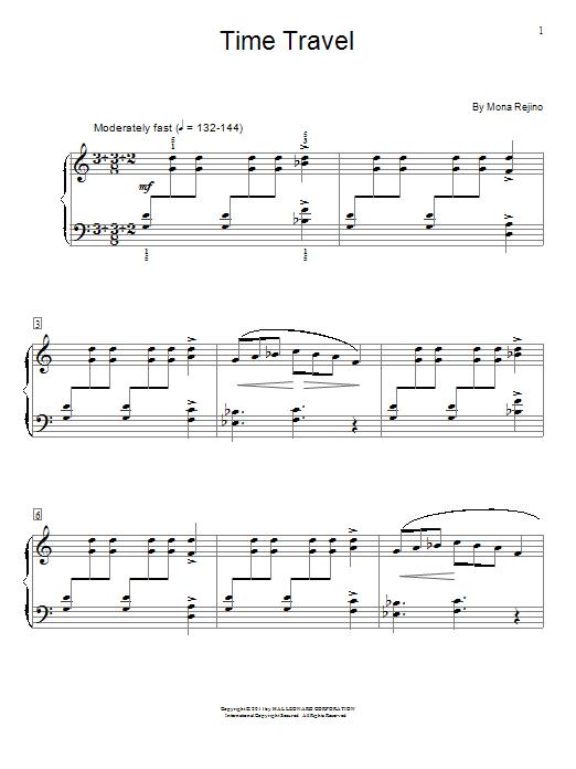 Partition piano Time Travel de Mona Rejino - Piano Solo