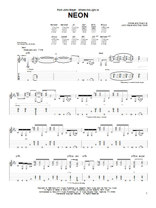 Guitar chords for free fallin