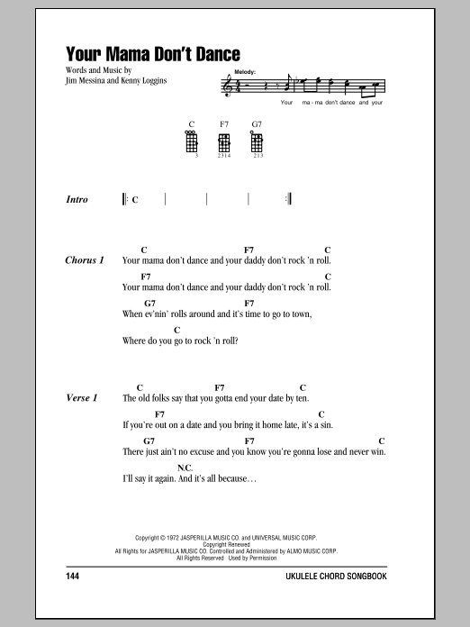 Ukulele Chords/Lyrics, Oldies - Search Results : Sheet Music Direct