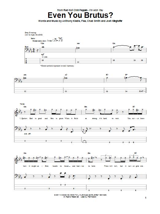 Tablature guitare Even You Brutus? de Red Hot Chili Peppers - Tablature Basse