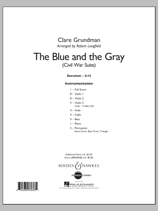 The Blue And The Gray (COMPLETE) sheet music for orchestra by Robert Longfield