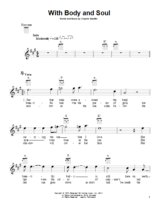 Tablature guitare With Body And Soul de The Kentucky Headhunters - Ukulele