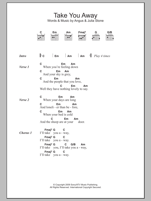 Angus And Julia Stone Guitar Chords