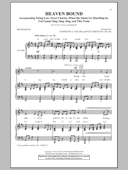 Partition chorale I'm Gonna Sing, Sing, Sing de Patti Drennan - SATB