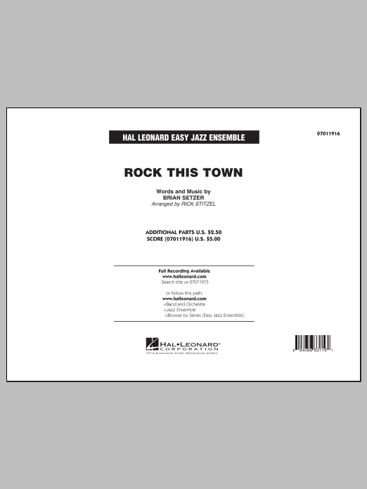Rock This Town (COMPLETE) sheet music for jazz band by Brian Setzer