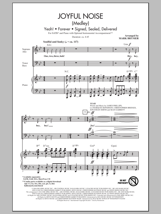 Partition chorale Joyful Noise (Medley) de Mark Brymer - SATB