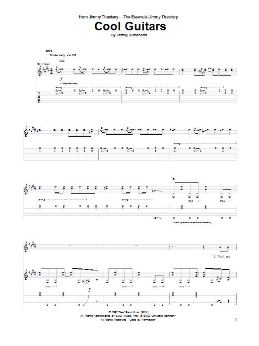 Tablature guitare Cool Guitars de Jeffrey Sutherland - Tablature Guitare