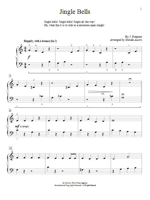 Partition piano Jingle Bells de Glenda Austin - Piano Solo