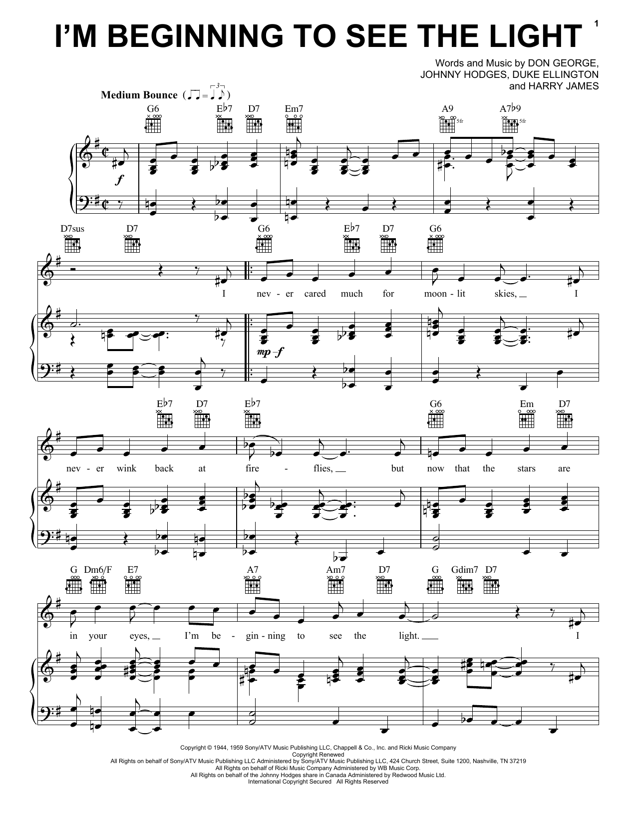 Sheet Music Digital Files To Print - Licensed Harry James Digital ...