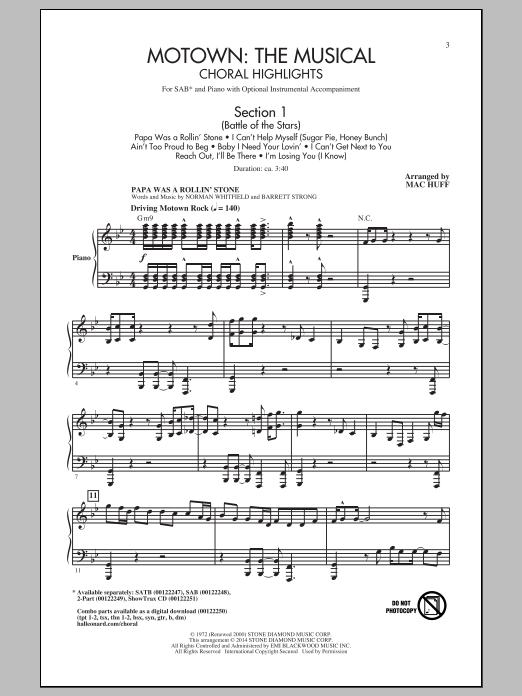 Partition chorale Ain't No Mountain High Enough de Mac Huff - SAB